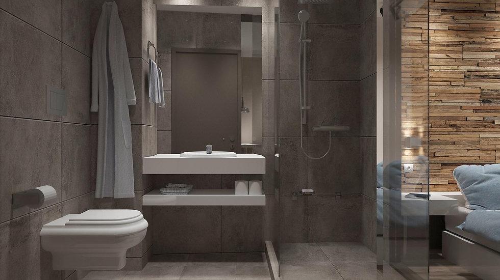 Bathroom render.