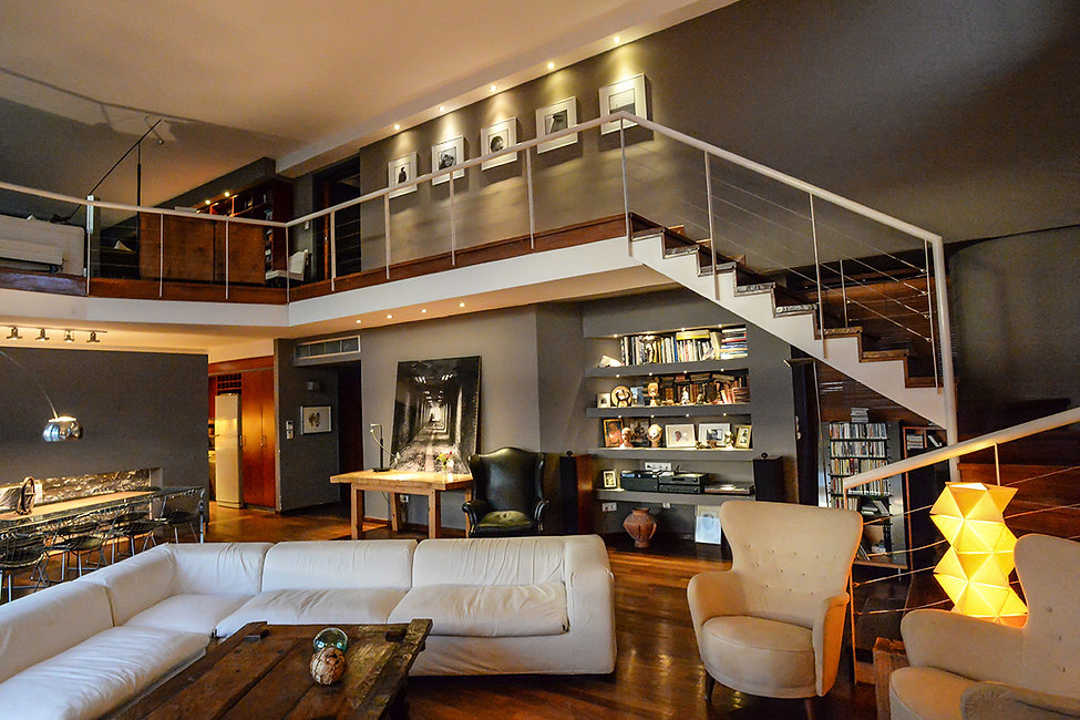Interior designin a double height room