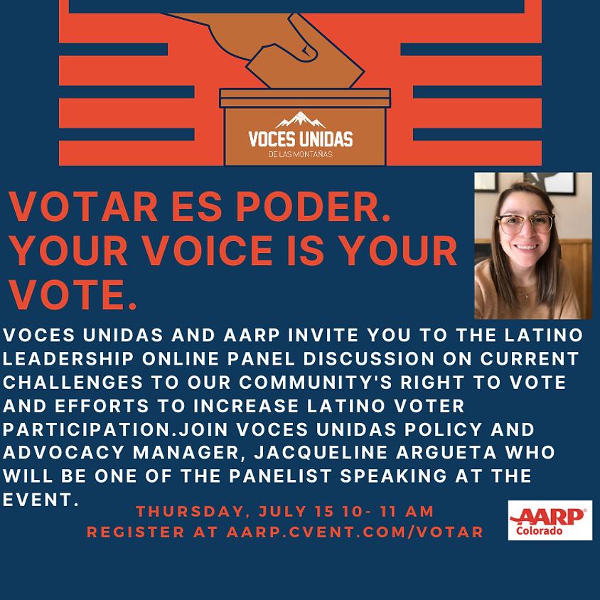 AARP Votar es Poder/Your Voice is Your Vote