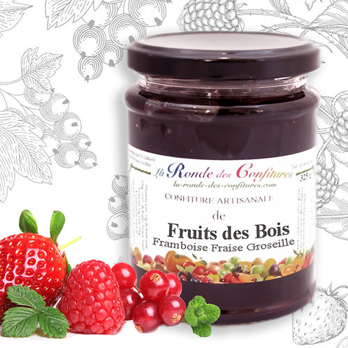 CONFITURE FRUITS DES BOIS 325 g   Myrtille - Mûre -Framboise