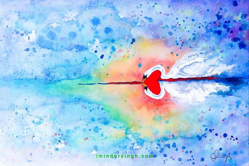 Soul-swans reflect in love