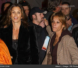 Cindy Crawford and Mona Elyafi