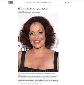 Marlene Forte for the Golden Globes