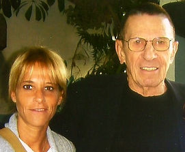 Leonard Nimoy and Mona Elyafi