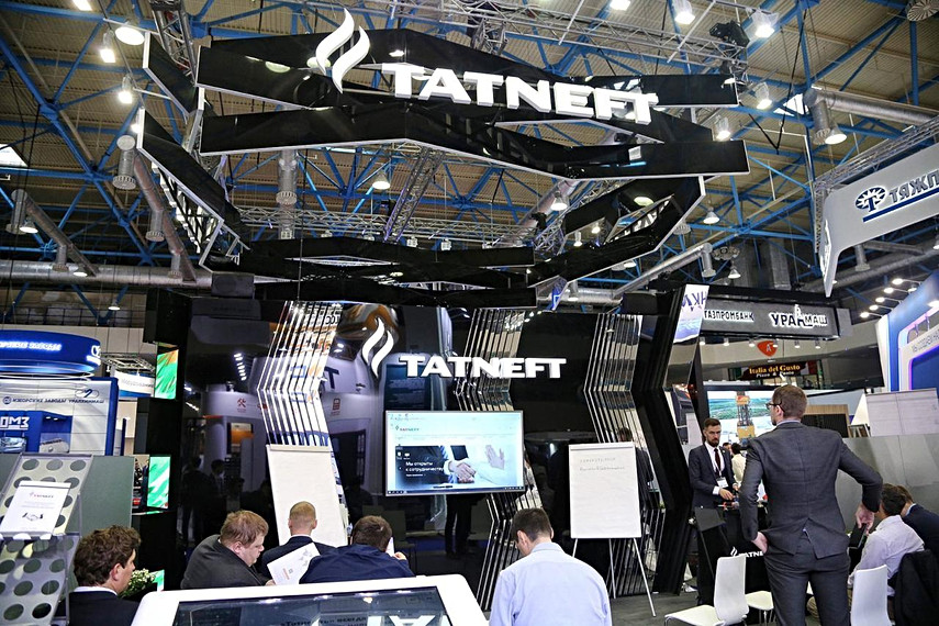 """Stand of a company """"Tatneft"""" at """"Oil and Gas 2019 """" exhibition in Moscow"""