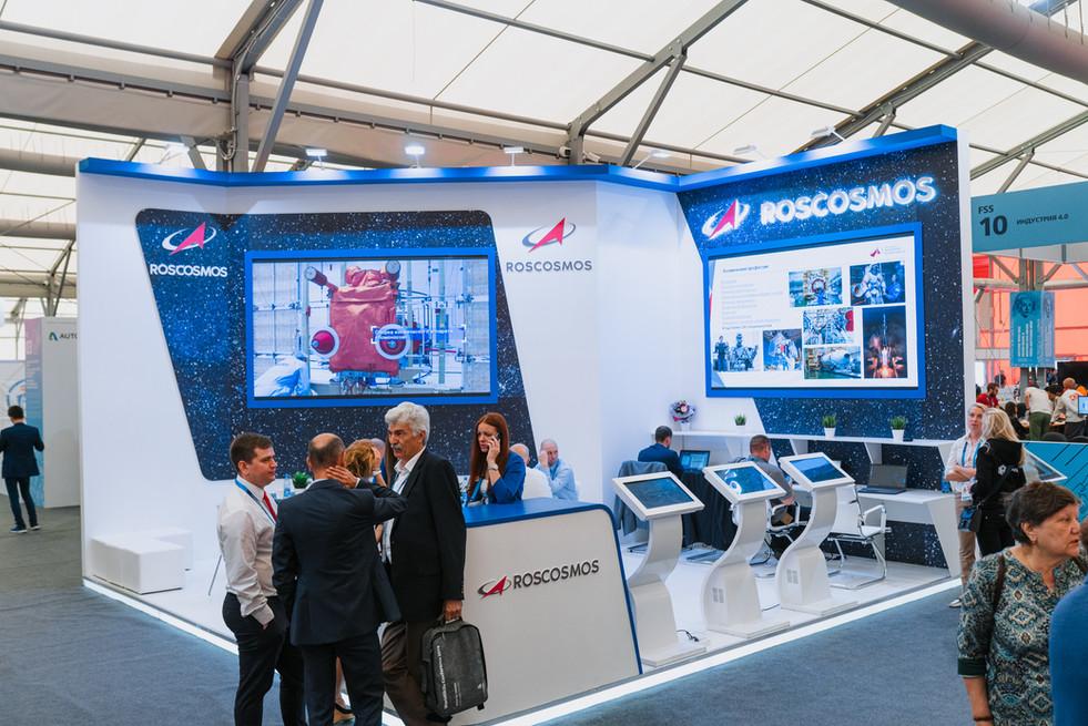 """ROSCOSMOS"" exhibition booth / World Skills Kazan 2019"
