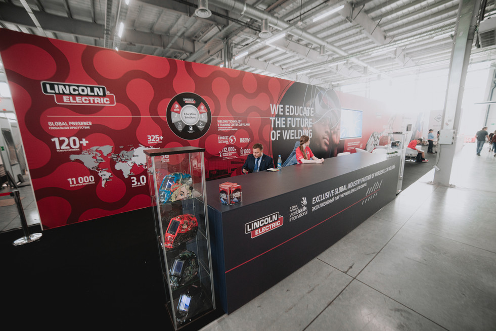 """Lincoln Electric"" exhibition stand / World Skills Kazan 2019"