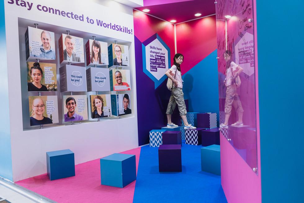 World Skills Exhibition booth / World Skills Exhibition Kazan 2019