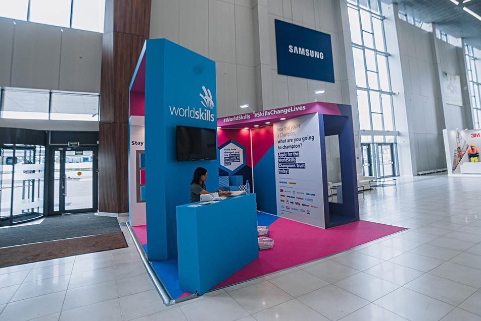 World Skills Exxhibition booth / World Skills Exhibition Kazan 2019