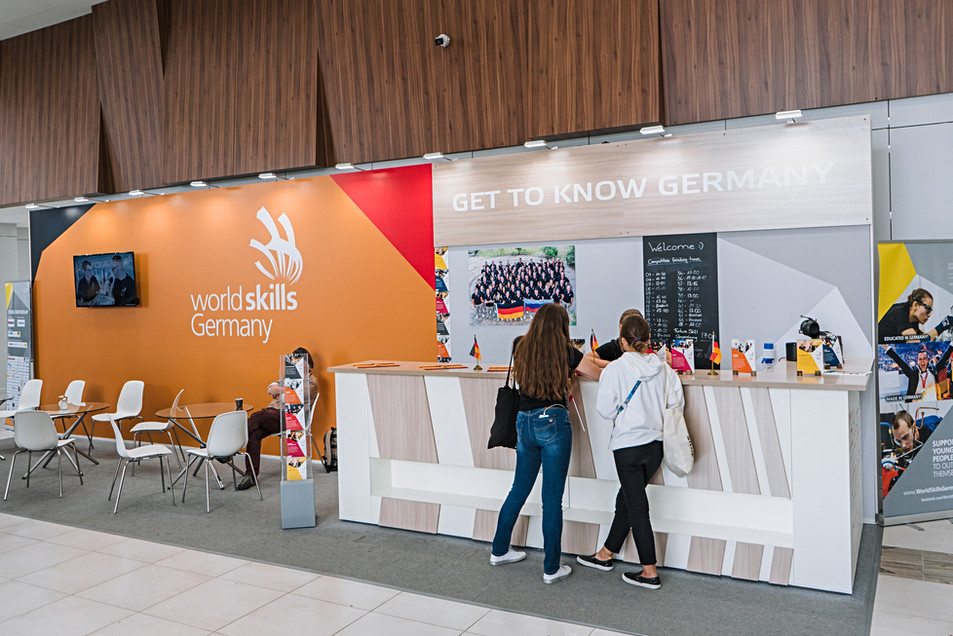 Exhibition booth of Germany / World Skills Kazan 2019