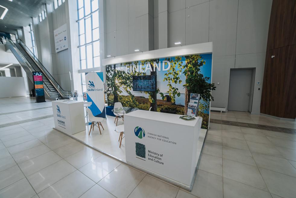Finland exhibition stand / World Skills Kazan 2019