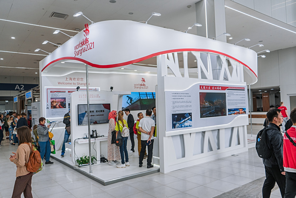 Exhibition stand of Shanghai / World Skills Kazan 2019