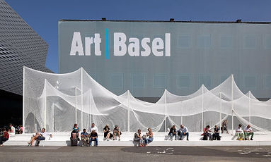 Art|Basel fair ground outside hall 1 in Basel.