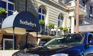 Limousine Service Switzerland at Sotheby's in Geneva/Switzerland.