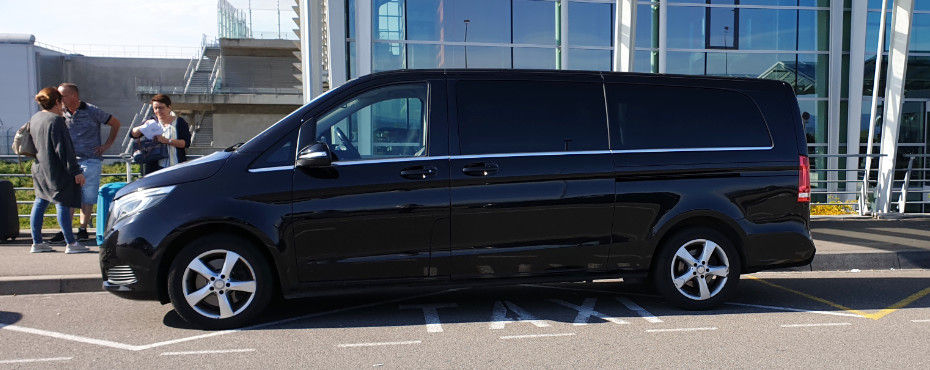 Luxurious transfers in a Mercedes-Benz Van.