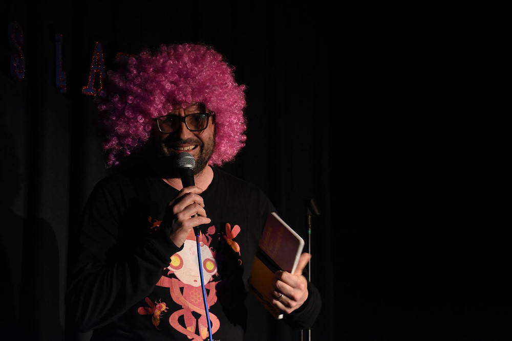Brian Gittins performing at GOAT comedy April 2017