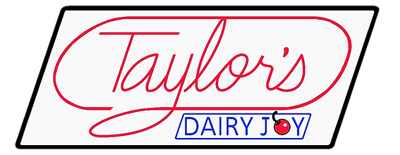Taylor's Dairy Joy Logo with background.