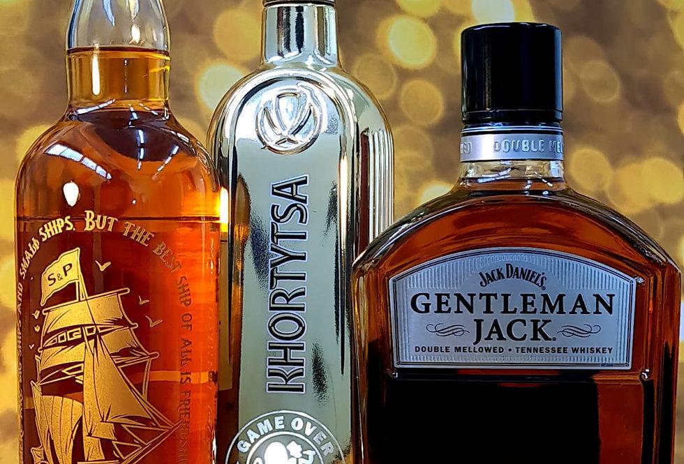 בקבוקי אלכוהול איכותיים עם חריטה