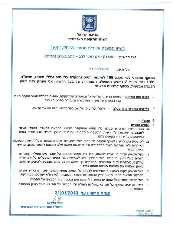 הארגון הישראלי לרב להב רחפנים