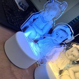 מנורות לד מעוצבות עם חריטה