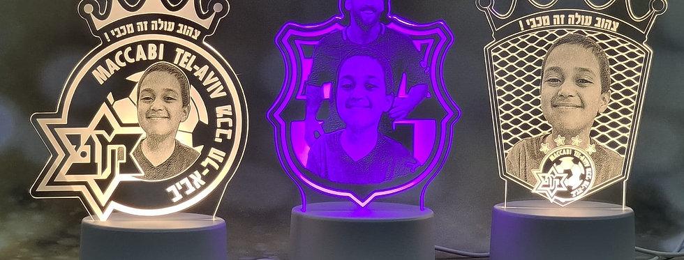 מנורת לד פורטרט אישי כדורגל