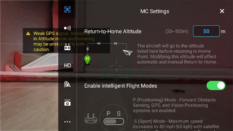 ENABLE INTELIGENT FLIGHT MODE