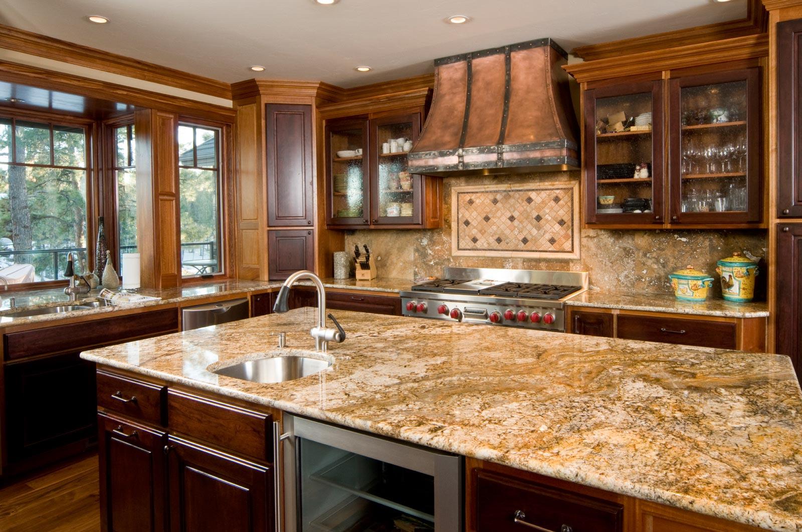 Creamy Orange Kitchen Countertops