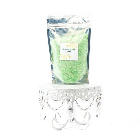 Creamy Melon Fizzing Bath Salts 32oz.