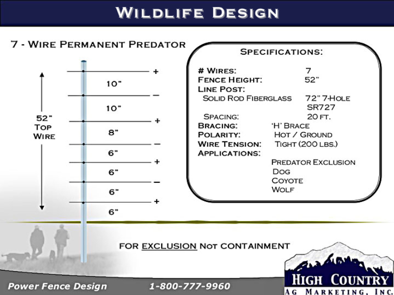 Wildlife 7-Wire 52in Predator specs