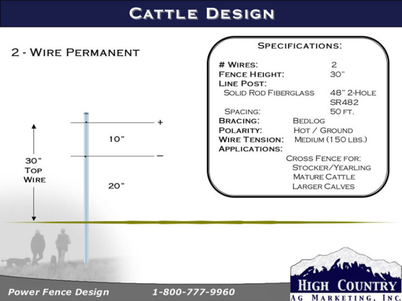 2-wire cattle fence