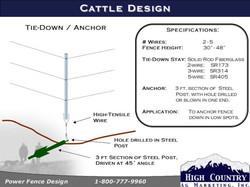 Cattle Fence Tie-Down specs