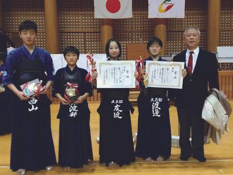 第23回愛媛県少年剣道選手権大会で各部門にて入賞!
