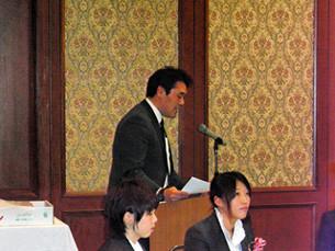 平成23年度日本スポーツ少年団表彰、優秀指導者賞ならびに服部家送別会