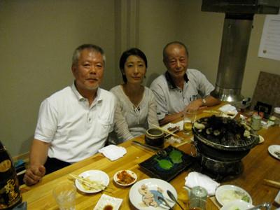 雄峰会親善剣道大会のあと、如水館の皆さんと懇親会を行いました!