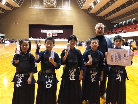 十河剣道スポーツ少年団 創立40周年記念少年剣道錬成大会にて入賞!