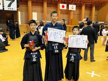 第28回愛媛県少年剣道選手権大会にて各個人戦入賞!