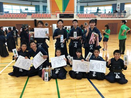 第45回松山市少年剣道錬成大会にて各部門入賞!