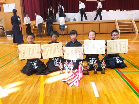 第38回久万少年剣道優勝大会にて小学生低学年団体入賞!