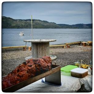 Hog roast on the pier