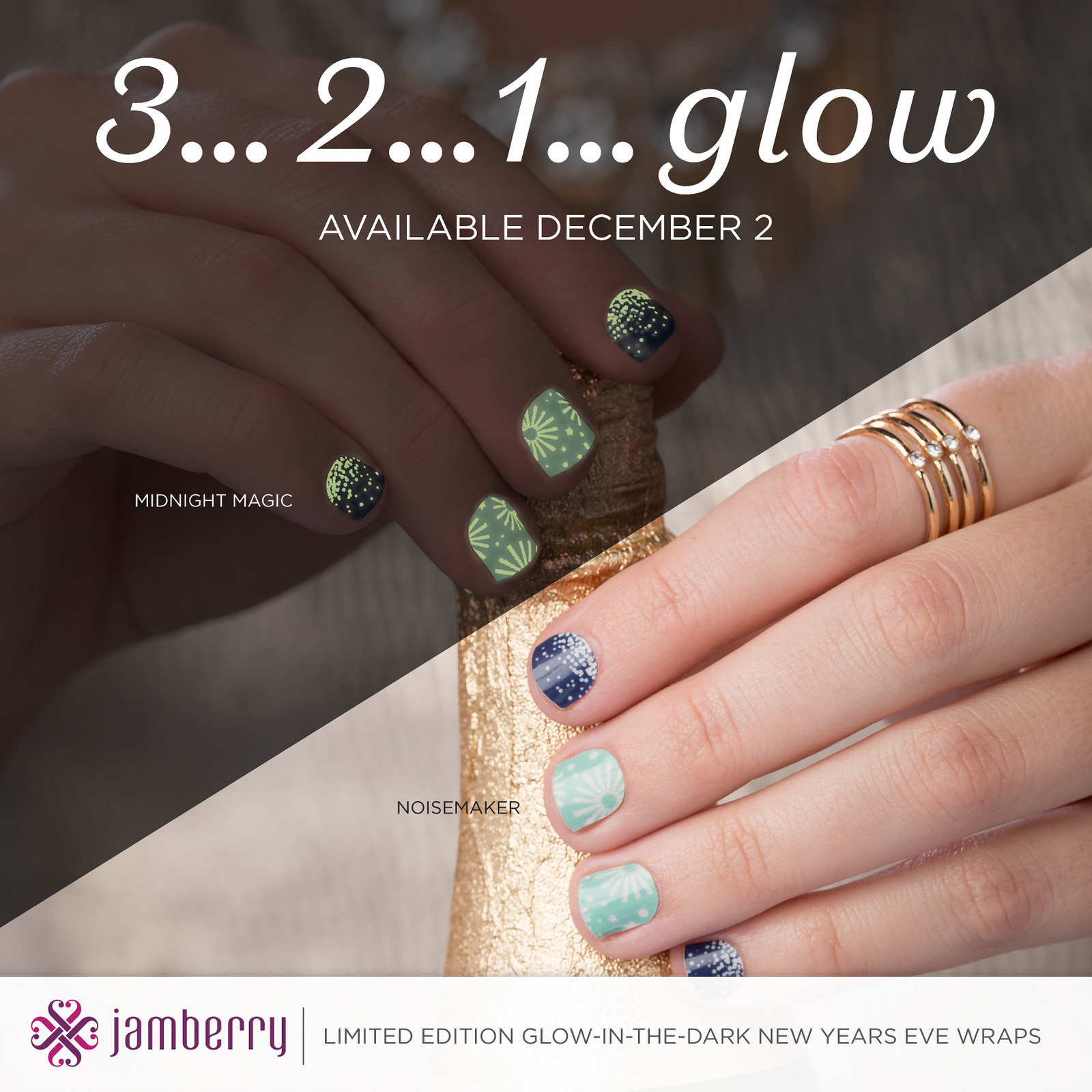 Ring in the New Year with Glow in the Dark Nails!! | Ollie and Me ...