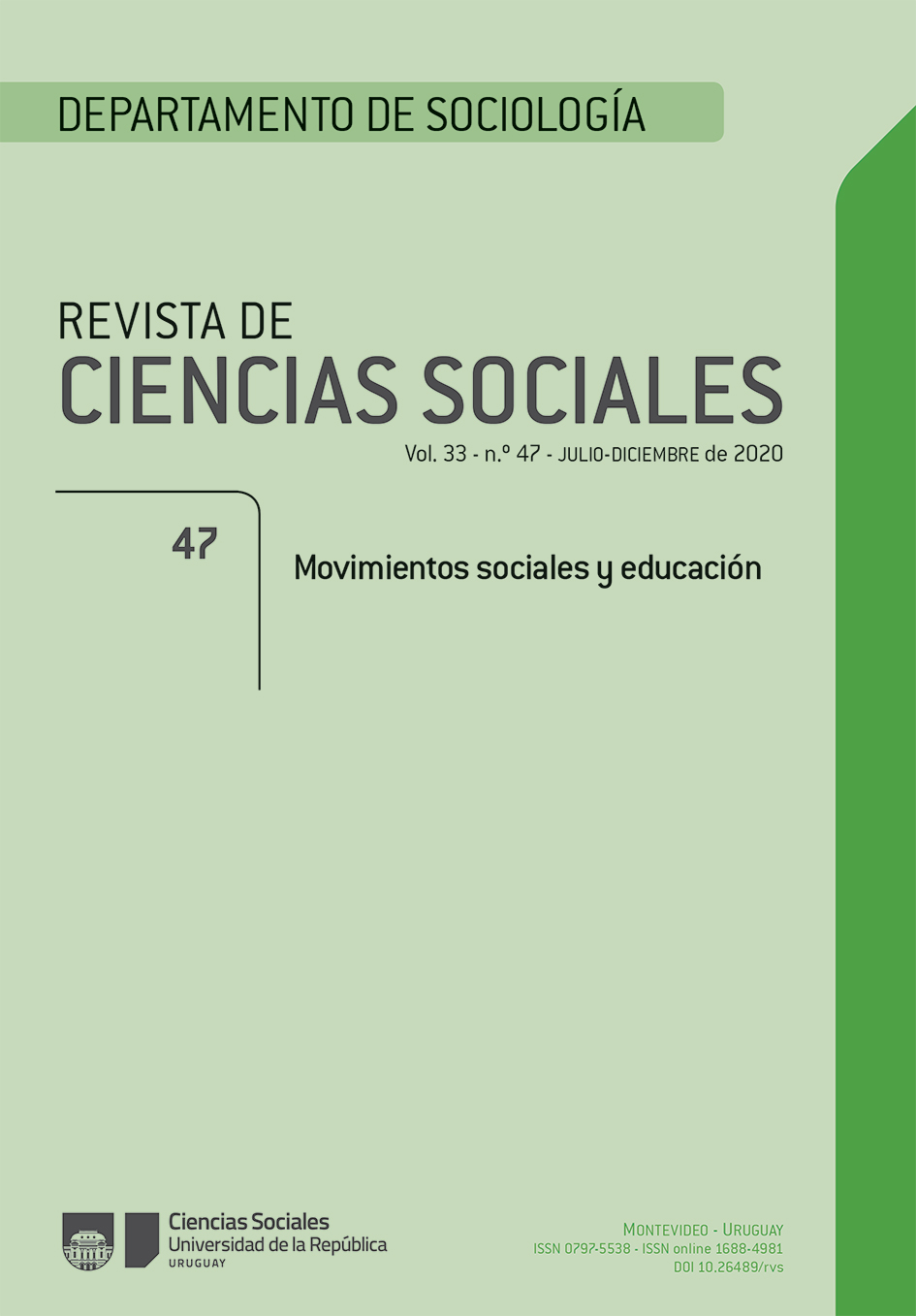 Revista de Ciencias Sociales 47