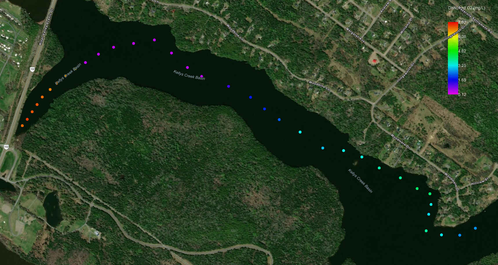 Kelly's Creek / Woolastook Dissolved O2