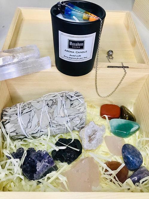 Crystal meditation and healing kit