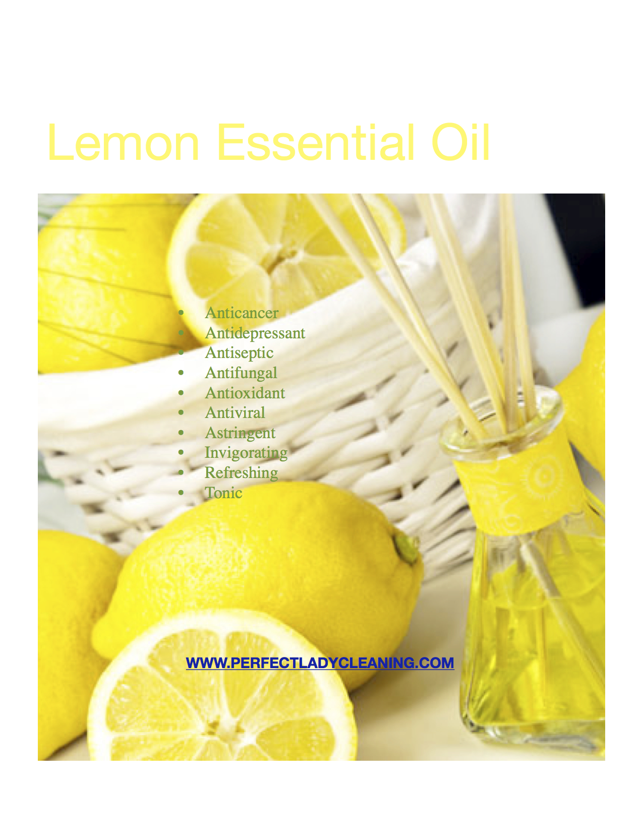 Lemon Essential Oil   Perfect Lady Aromatherapy Cleaning