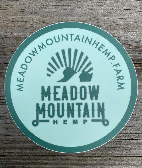 Meadow Mountain Hemp Vinyl Sticker (4in)
