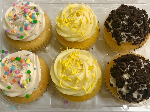Cupcakes: Assorted 4-pack or 6-pack
