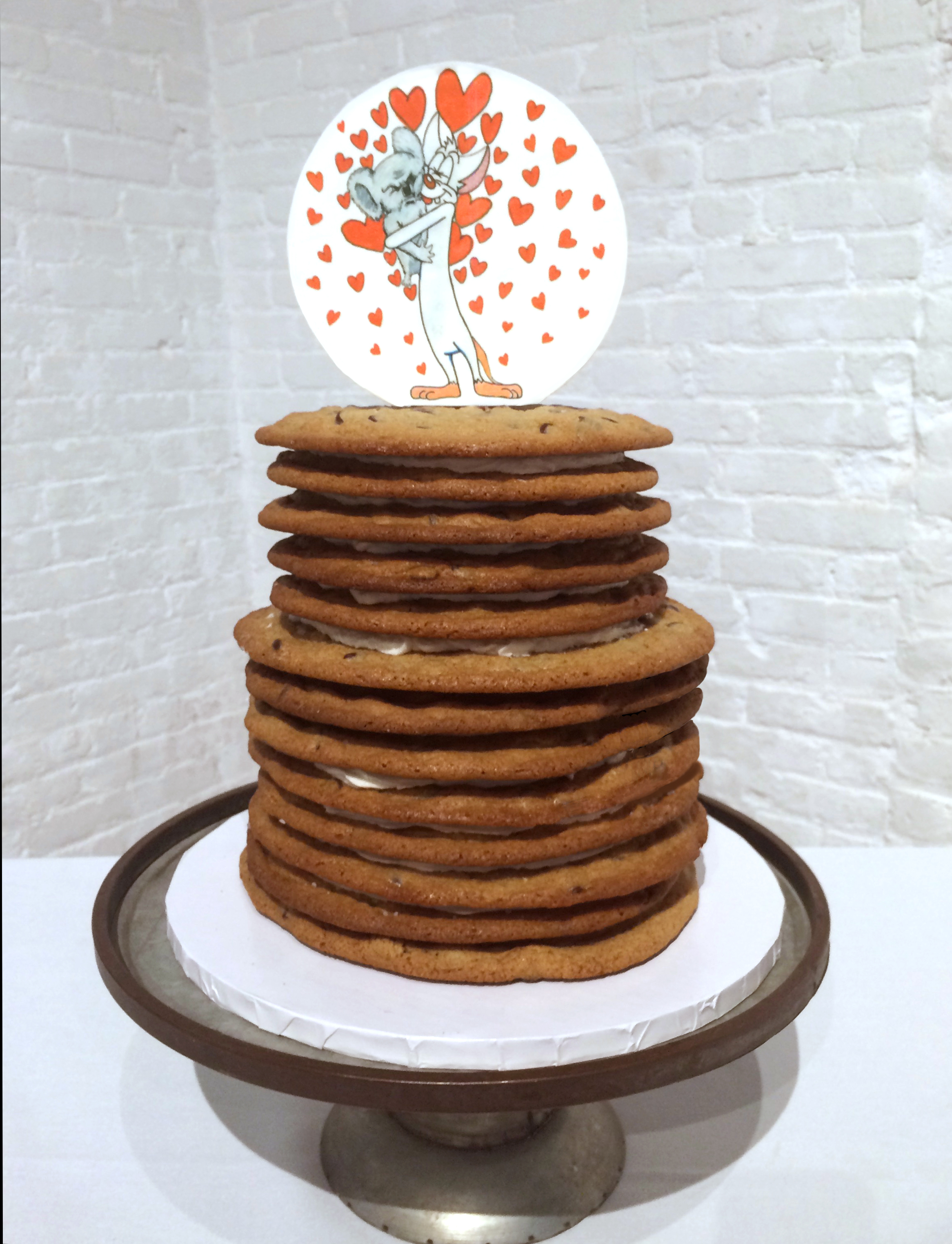 Chocolate chip wedding cake