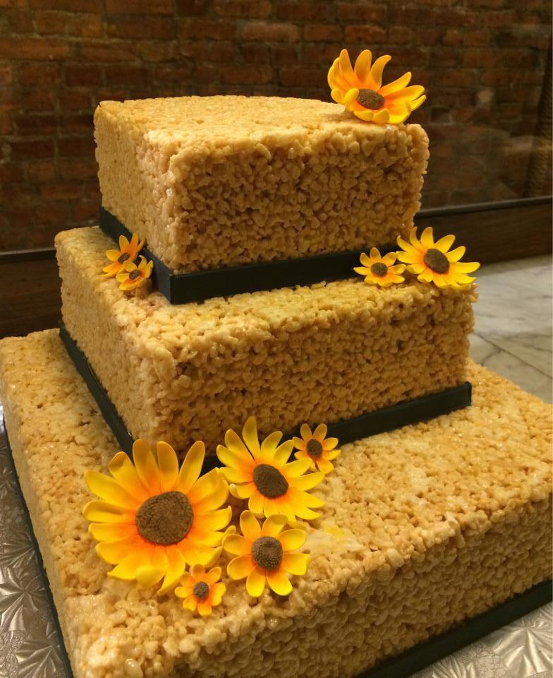 Krispie Treats Wedding Cake