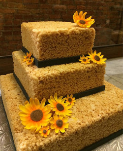 Krispie Treats Wedding Cake