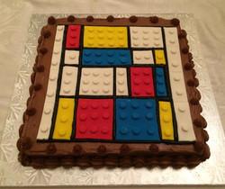 Mondrian Lego Cake